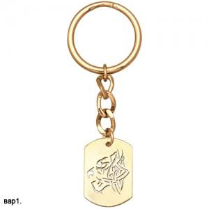 Брелок Тигр из золота 585 пробы арт. 008-1-576