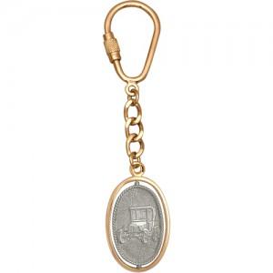 Брелок ОБЕРЕГ АВТОМОБИЛИСТА из золота 585 пробы арт. 008-1-584