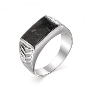 Мужской перстень из серебра 925 пробы с гранитом арт. 93-44-074
