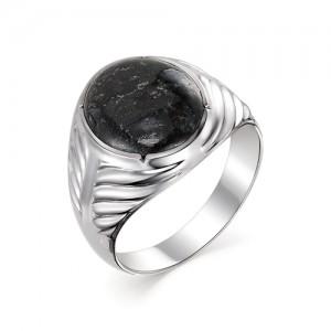 Мужской перстень из серебра 925 пробы с гранитом арт. 93-44-075