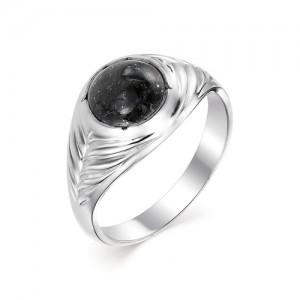 Мужской перстень из серебра 925 пробы с гранитом арт. 93-44-077