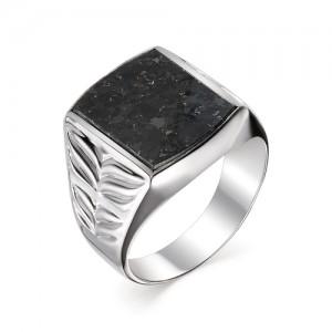 Мужской перстень из серебра 925 пробы с гранитом арт. 93-44-079