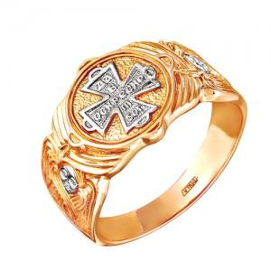Кольцо из красного золота 585 пробы арт. 100-1-340Р