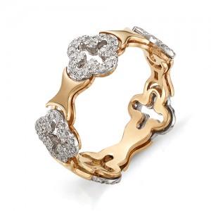 Кольцо из красного золота 585 пробы арт. 11-02-298