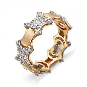 Кольцо из красного золота 585 пробы арт. 11-02-299