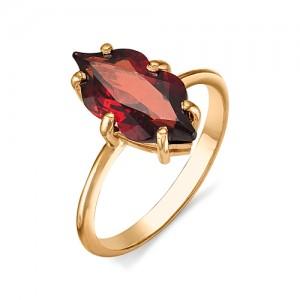 Кольцо из красного золота 585 пробы с полудрагоценными камнями арт. 11-11-247