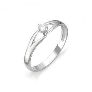 Кольцо из белого золота 585 пробы с бриллиантом арт. 12-03-312