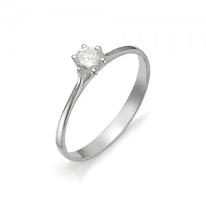 Кольцо из белого золота 585 пробы с бриллиантом арт. 12-03-314