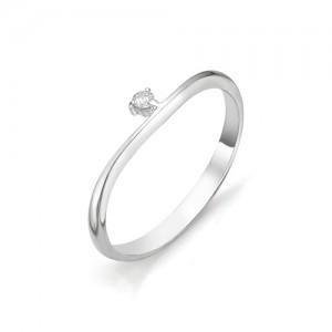 Кольцо из белого золота 585 пробы с бриллиантом арт. 12-03-315