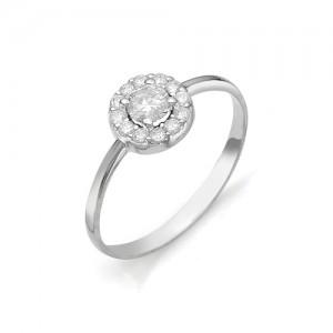 Кольцо из белого золота 585 пробы с бриллиантом арт. 12-03-318