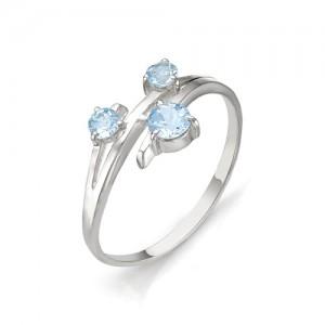 Кольцо из серебра 925 пробы с полудрагоценными камнями арт. 13-10-098