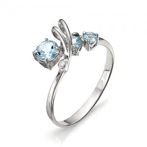 Кольцо из серебра 925 пробы с полудрагоценными камнями арт. 13-10-155
