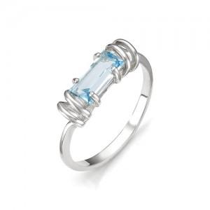 Кольцо из серебра 925 пробы с полудрагоценными камнями арт. 13-10-158