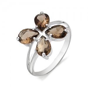 Кольцо из серебра 925 пробы с полудрагоценными камнями арт. 13-14-126