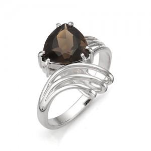 Кольцо из серебра 925 пробы с полудрагоценными камнями арт. 13-14-177