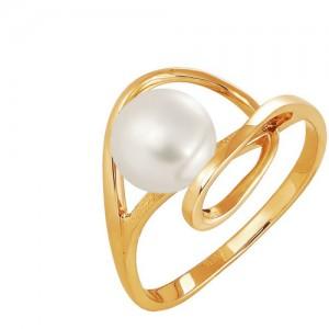 Кольцо из красного золота 585 пробы с жемчугом арт. 190-1-267