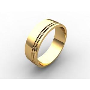 Обручальное кольцо из золота 585 пробы арт. 300-003