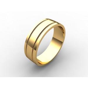 Обручальное кольцо из золота 585 пробы арт. 300-004