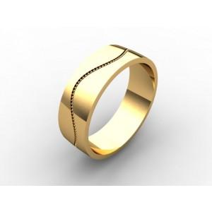 Обручальное кольцо из золота 585 пробы арт. 300-005