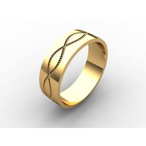 Обручальное кольцо из золота 585 пробы арт. 300-006