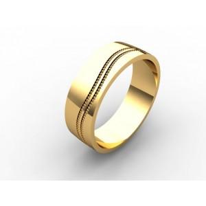 Обручальное кольцо из золота 585 пробы арт. 300-007