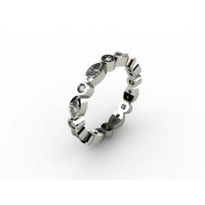 Обручальное кольцо из золота 585 пробы арт. 300-008