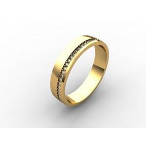 Обручальное кольцо из золота 585 пробы арт. 300-010
