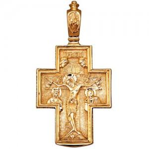 Крест из красного золота 585 пробы арт. 300-1-307