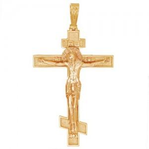 Крест из красного золота 585 пробы арт. 300-1-448