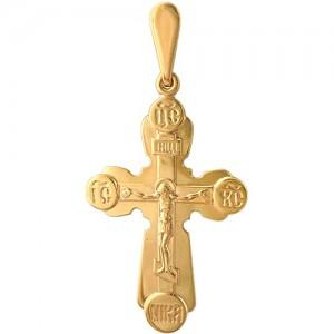 Крест из красного золота 585 пробы арт. 300-1-477