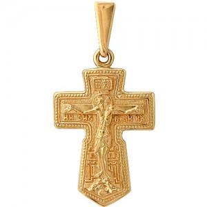 Крест из красного золота 585 пробы арт. 300-1-485