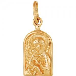 Подвеска из красного золота 585 пробы арт. 300-1-509