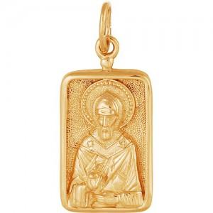 Подвеска из красного золота 585 пробы арт. 300-1-514