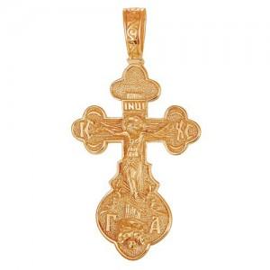 Крест из красного золота 585 пробы арт. 300-1-542