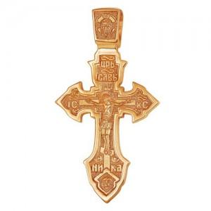 Крест из красного золота 585 пробы арт. 300-1-544
