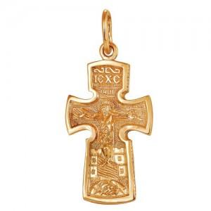 Крест из красного золота 585 пробы арт. 300-1-545