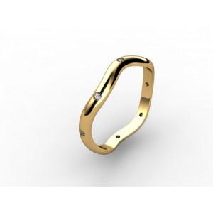 Обручальное кольцо из золота 585 пробы арт. 300-011