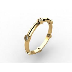 Обручальное кольцо из золота 585 пробы арт. 300-012