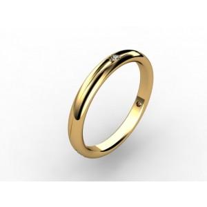 Обручальное кольцо из золота 585 пробы арт. 300-013
