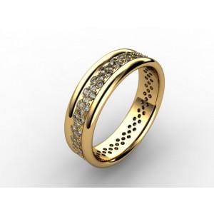 Обручальное кольцо из золота 585 пробы арт. 300-014