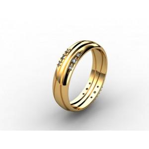 Обручальное кольцо из золота 585 пробы арт. 300-023