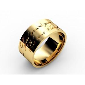 Обручальное кольцо из золота 585 пробы арт. 300-024