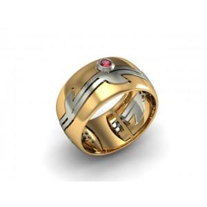 Обручальное кольцо из золота 585 пробы арт. 300-026