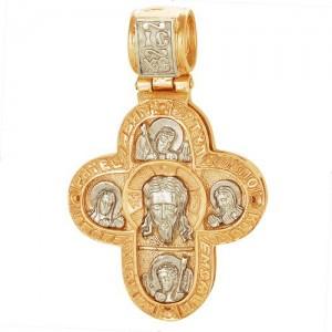 Крест из красного и белого золота 585 пробы арт. 308-1-277