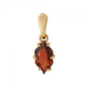 Подвеска из красного золота 585 пробы с полудрагоценными камнями арт. 31-11-247