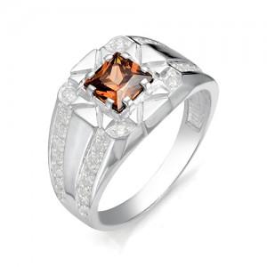 Перстень из серебра 925 пробы с раух-топазами арт. 93-14-025