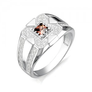 Перстень из серебра 925 пробы с раух-топазами арт. 93-14-028