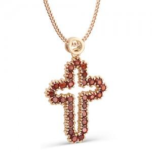 Подвеска-крестик из красного золота 585 пробы  арт.71-11-014