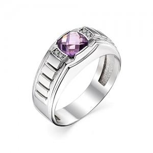 Перстень из серебра 925 пробы с кварцем арт. 93-02-203