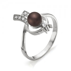Кольцо из серебра 925 пробы с жемчугом арт. К-0030